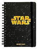 Diario Scuola Settimanale 2020/2021 Star Wars Logo, 12 mesi, A5, spazi extra per la pianificazione, adesivi stickers