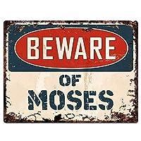 MOSESに注意してください メタルポスタレトロなポスタ安全標識壁パネル ティンサイン注意看板壁掛けプレート警告サイン絵図ショップ食料品ショッピングモールパーキングバークラブカフェレストラントイレ公共の場ギフト