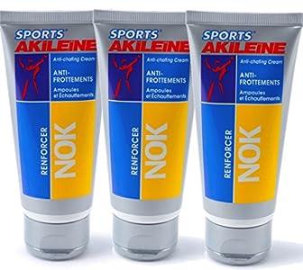 Akileine NOK - Crema anti rozamientos Anti-rozaduras, para ampollas e irritación - Pack 3 x 75ml