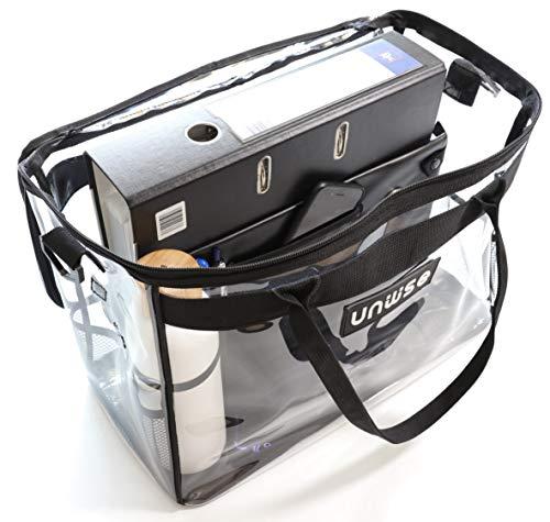 Unwise Wise-bib - Die Bib-Tasche für Ordner, Laptop und Gesetzestexte (transparent)