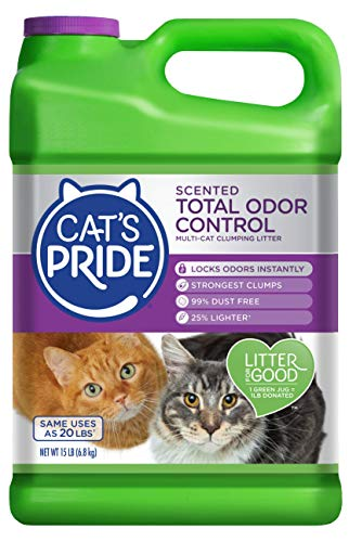 Cat's Pride Fresh and Light Multi-Cat Premium Clumping Litter Jug, 15-Pound
