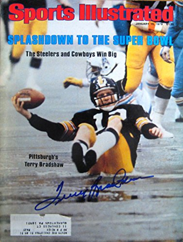 Terry Bradshaw autographed Sports Illustrated magazine 1/15/79