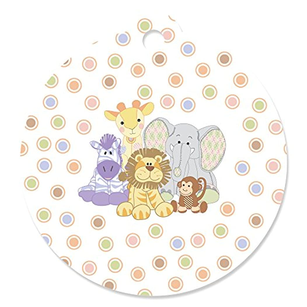 Zoo Crew - Zoo Animals Baby Shower or Birthday Party Favor Gift Tags (Set of 20)