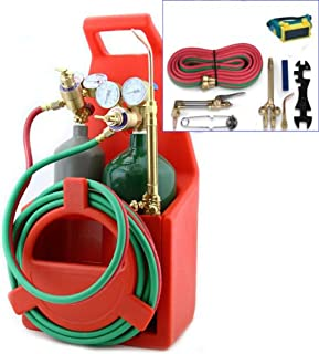 OXYGEN /& ACETYLENE WELDING CUTTING OUTFIT TORCH SET GAS WELDER KIT w//15FT HOSES