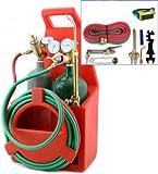 9TRADING Professional Portable Oxygen Acetylene Oxy Welding Cutting Weld Torch Tank Kit