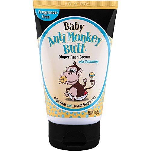 ANTI MONKEY BUTT Baby Diaper Rash Cream, 3 Oz (6 Pack)