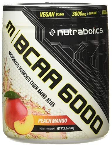 Nutrabolics BCAA 6000 (Flavored Micronized BCAA Powder) Peach Mango, 240 g