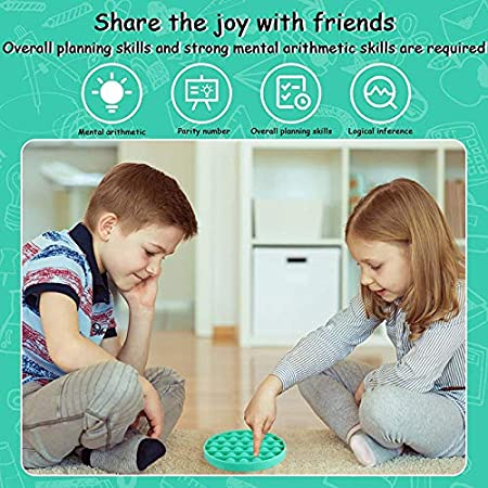 Meifen 2Pcs Push Pop Bubble Sensory Fidget Toy Stress Reliever Autism Round Toy Anti-Anxiety Toys for The Old and The Young Green/&Yellow