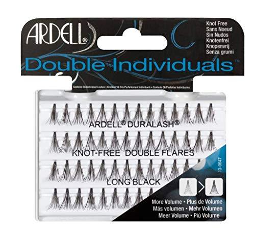Ardell Double Individuals Long, das Original (Knot Free) black, wiederverwendbare Einzelwimpern für einen natürlichen Look, ultraleicht und flexibel - aus Echthaar (1 x 56 Stück) (1x)