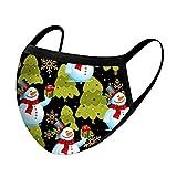 Ampia 5 Stücke Mundschutz für Kinder,Mund-Nasen-Schutz mit Weihnachten Motiv ,Mundschutz mit Motiv - Atmungsaktiv Stoff Bandana Schal Waschbare Wiederverwendbar