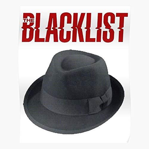 MELIBALI Hat The Criminal Crime Raymond Reddington Tv Blacklist Bullet Show for Home Decor Wall Art Print Poster