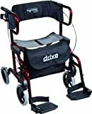 Drive Medical metallic Rollator Diamond Deluxe, rot -