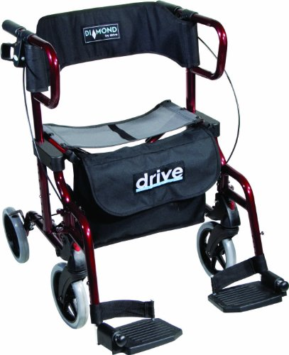 Drive Medical Diamond Deluxe - Silla de rueda, con reposapiés, color