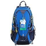 EGOGO 30L al Aire Libre Ciclismo Senderismo Mochila Resistente al Agua Corriendo Mochila Camping con Lluvia Cubierta S2310 (Azul)