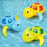 Lihgfw Babybadenwasserspielzeug, kleine Schildkröte, Vibrato, das gleiche Uhrwerk Wickel, Schwimmschildkröte, Kinderbad Badewanne, 3 Packungen Coole Tour Schildkröte (Color : Cool Turtle)