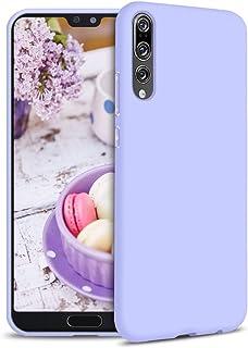 Funda para Huawei P20 Pro Carcasa Silicona Huawei P20 Pro, Silicona Gel TPU Case Goma Colores del Caramelo Anti-Rasguño Resistente Ultra Suave Protectora Caso - Morado Claro