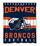 Weckim Custom Denver Football Team Waterproof Fabric Shower Curtain Colorful Design for Bathroom Decor 12 Holes Size 60x72 Inches