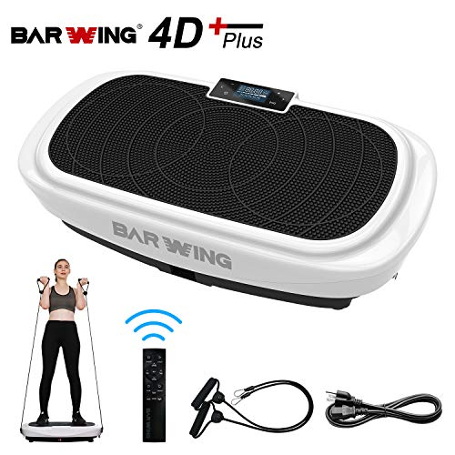 BARWING 4D Vibration Platform, Micro Vibration, Whole Body Workout Machine, Home Training Equipment Balance Trainer with Remote Control Black