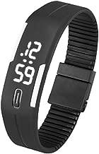 Bluestercool Unisex kauçuk tarih LED Watch–Spor Bileklik Dijital Kol saati