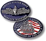 U.S. Navy Surface Warfare Warriors of The Sea Challenge Coin