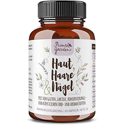 Haut, Haare & Nägel | Biotin, Bor, Hyaluronsäure, Ackerschachtelhalm, Brennessel, Goldhirse, Bambus & mehr | Vegan | 60 Kapseln | Premiumprodukt