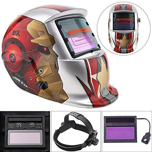 Welding Helmet IOFESINK Casco for soldar Soldador de oscurecimiento autom/ático Alimentado por energ/ía Solar M/áscara Facial Arco TIG Mig Molienda Patr/ón de Calavera Protecci/ón Seguridad