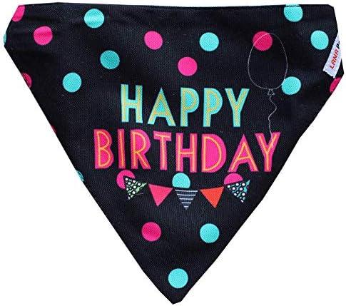 Lana Paws Happy Birthday Dog Bandana/Dog Scarf/Dog Gift (Adjustable)