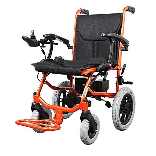 WXDP Autopropulsado Silla eléctrica portátil Plegable, Scooter eléctrico Ligero, Silla Apta para el Transporte aprobada por la FDA para Ancianos, discapacitados, Motor Doble de 250 W * 2, Control