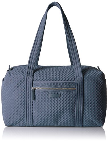 Vera Bradley Women's Microfiber Small Duffel Travel Bag, Charcoal, One Size