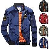 HunYUN Men's Jacket Coat Winter Warm Lightweight Sweatshirt Casual Fashion Pure Color Jacket Zipper Outwear Coat Tops