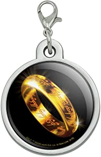GRAPHICS & MORE Lord of The Rings The One Ring Chrome Plated Metal Pet Dog Cat ID Tag
