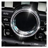 にとってMINIクーパーR55 R56 R60 R61カーインテリアの変更アクセサリー、中央制御室内クリスタルデコレーションステッカーのための 后 カーインテリアの装飾 ステッカー 装飾 (Color : 2)