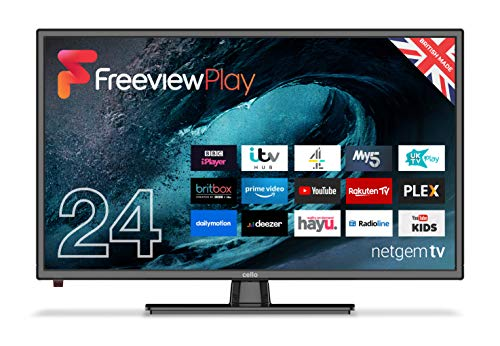 """Cello C24FVP 24"""" Smart LED TV with Freeview Play and Alexa 