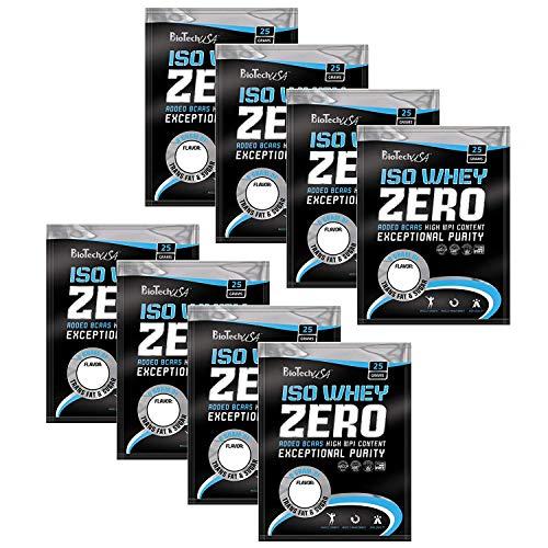 ISO WHEY ZERO MAXIMAL REINES MOLKENPROTEIN-PULVER OHNE LACTOSE, 9 x 25 g Testpaket von C.P. Sports