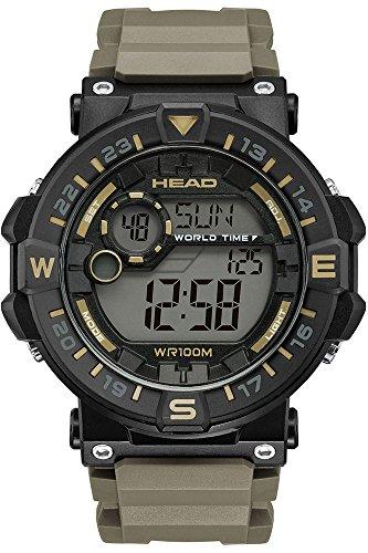 HEAD Reloj Digital para Hombre de Cuarzo con Correa en Caucho HE-109-02