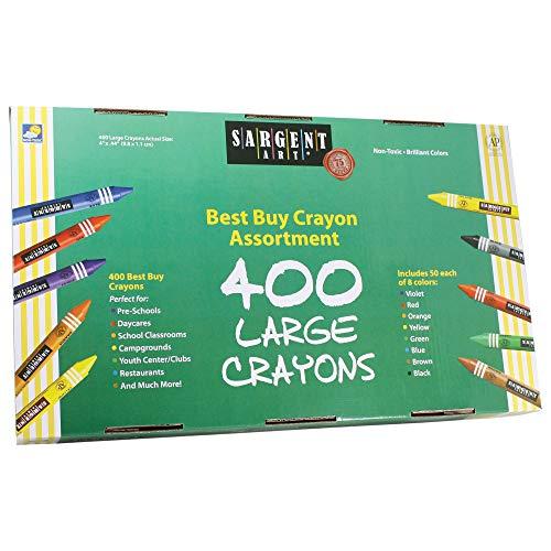 Sargent Art 400-Count Large Crayon Class Pack, Best Buy Assortment, 55-3250