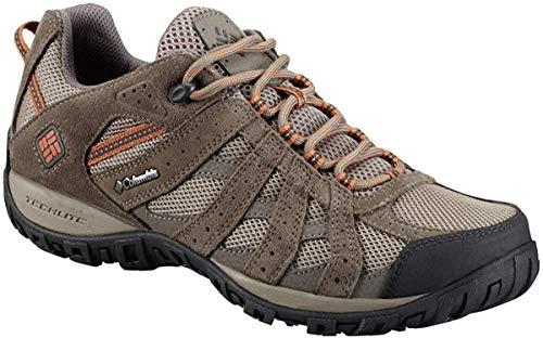 Columbia Men's Redmond Waterproof Hiking Shoe, Pebble, Dark Ginger, 12 D US