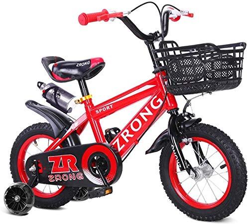 Bicicleta de carretera de la ciudad de cercanías, Bicicletas infantiles cubierta del rodillo Muchacho y muchacha pequeña bicicleta al aire libre Niños Transporte bicicleta estática (Color: Rojo, Tamañ