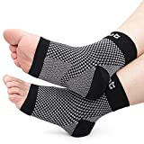 Dr. Foot's Compression Arch Support Sleeves Socks with Comfort Gel Pads for Men & Women, Relief for Plantar Fasciitis, Flat Feet, Foot and Heel Pain (S - Boys 1-3.5 | Girls' 2-4.5)