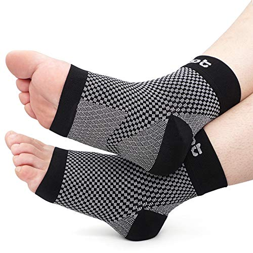 Dr. Foot s Compression Arch Support Sleeves Socks with Comfort Gel Pads for Men & Women, Relief for Plantar Fasciitis, Flat Feet, Foot and Heel Pain (L - Men s 7-10.5 | Women s 8-11.5)
