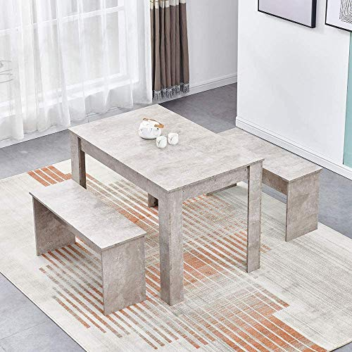 Mesa de madera con dos bancos en la mesa de la cocina y dos sillas,E