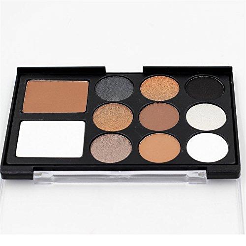 Pure Vie® 11 Couleurs Fard à Paupières Palette de Maquillage Cosmétique Set #1 - Convient Parfaitement pour une Utilisation Professionnelle ou à la Maisons