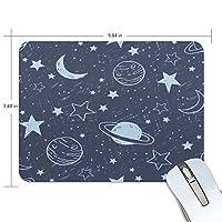 マウスパッド かわいい 天体 星柄 月柄 空 高級 ノート パソコン マウス パッド 柔らかい ゲーミング よく 滑る 便利 静音 携帯 手首 楽