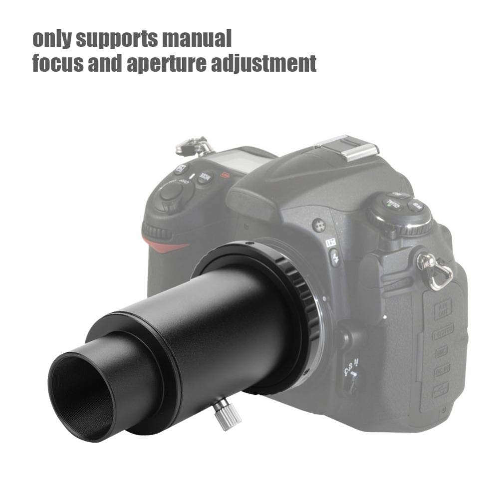 T2 Adapter Supports Manual Adjustment of Focus and Aperture 1.25 inch Telescopic Extension Tube M42 Thread T-Mount Lens Adapter Ring for Camera