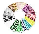 La Manufacture du Pixel - 3 200 gommettes stickers carrées autocollantes 1cm x 1cm - Pixel Art, Loisir Créatif, Mosaïque, Fun ! - Créez à l'infini tout l'art qui vous ressemble
