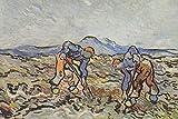 // TPCK // Póster de Vincent Van Gogh – Campesinos cosechando patatas (1890) – Impresión artística de regalo – Willem Dutch – Tamaño: 53,3 x 35,5 cm