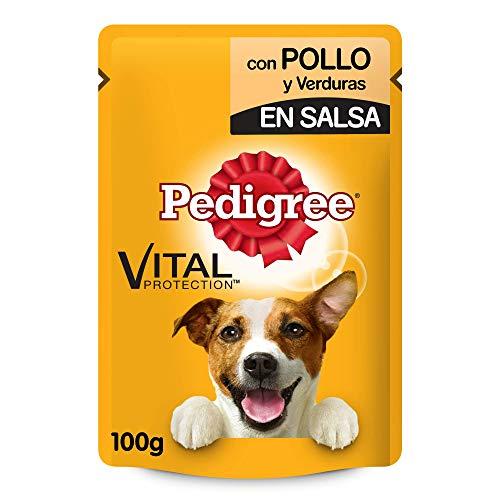 Pedigree Bolsita de 100g para perros adultos de Pollo y verduras (Pack de 24)