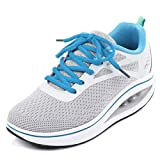 Binkasen Womens Cross Training Shoes Non-Slip Breathable Mesh Shoes Athletic Sneakers Grey