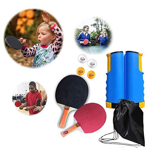 Tischtennis gesetzt, tragbares Tischtennisset, einziehbares Tischtennisnetz, Kinder Erwachsene Indoor/Outdoor-Spiel - for Schule, Haus, Büro