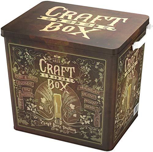Kalea Beer Box | Metallbox mit 3D-Prägung | Bierspezialitäten | Perfekte Geschenkidee für Männer, Väter und alle Bierliebhaber (Craft Bier Box) - 2